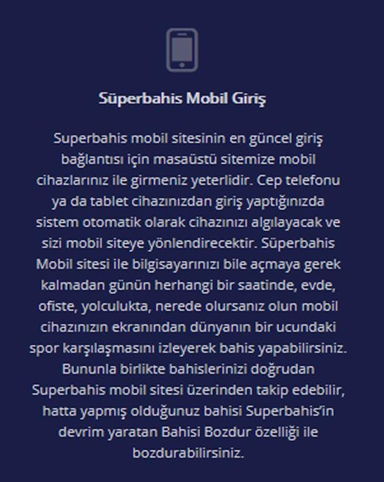 Süperbahis Mobil